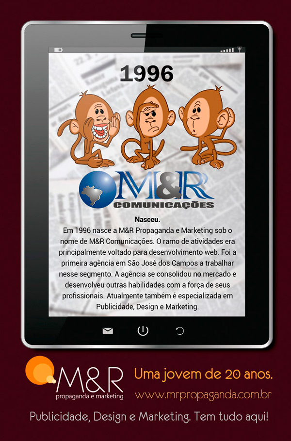 20 anos - M&R Propaganda e Marketing!