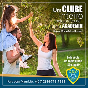 Seja sócio do Tênis Clube São José